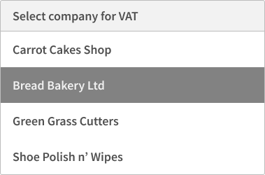 Submit VAT for multiple companies