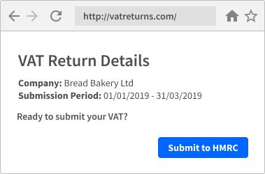 MTD VAT Return details