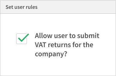 Select VAT users